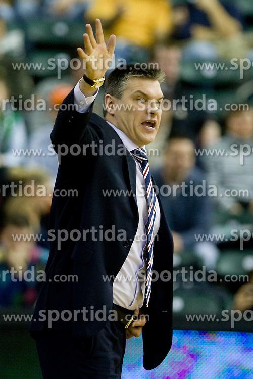 Head coach of CSKA Evgeny Pashutin at Euroleague basketball match between KK Union Olimpija, Ljubljana and CSKA Moscow, on January 7, 2010 in Arena Tivoli, Ljubljana, Slovenia. CSKA defeated Olimpija 80:77 after overtime. (Photo by Vid Ponikvar / Sportida)