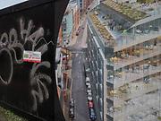Graffiti in front of development site. Bristol. 20 October 2017