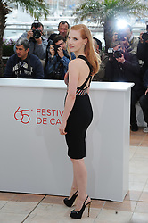 US actress Jessica Chastain poses during the photocall of 'Lawless' presented in competition at the 65th Cannes film festival on May 19, 2012 in Cannes..Photo Ki Price/i-Images