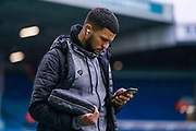 Bristol City forward Nahki Wells (21) arrives at the ground during the EFL Sky Bet Championship match between Leeds United and Bristol City at Elland Road, Leeds, England on 15 February 2020.