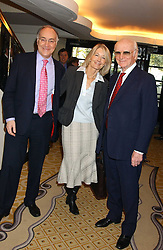 Left to right, MICHAEL HOWARD MP, SANDRA HOWARD and  SIR PETER O'SULLEVAN at The Sir Peter O'Sullevan Charitable Trust Lunch at The Savoy, London on 23rd November 2005.<br />