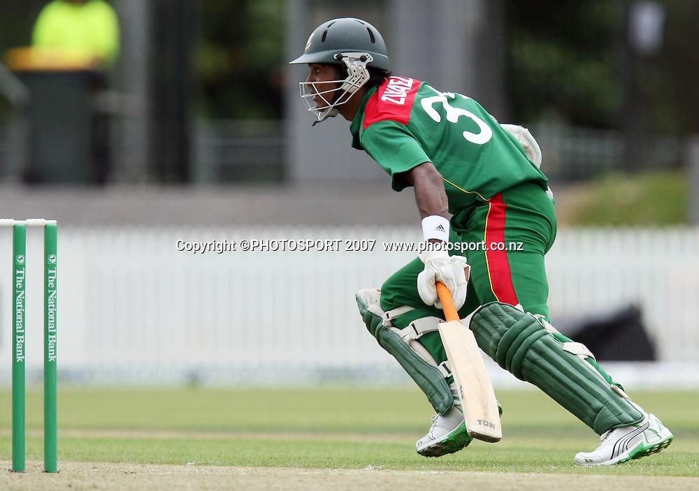 Bangladesh batsman Zunaed Siddique. Northern Knights v Bangladesh. One day tour cricket match. Seddon Park, Hamilton. Sunday 16 December 2007. Photo: Stephen Barker/PHOTOSPORT