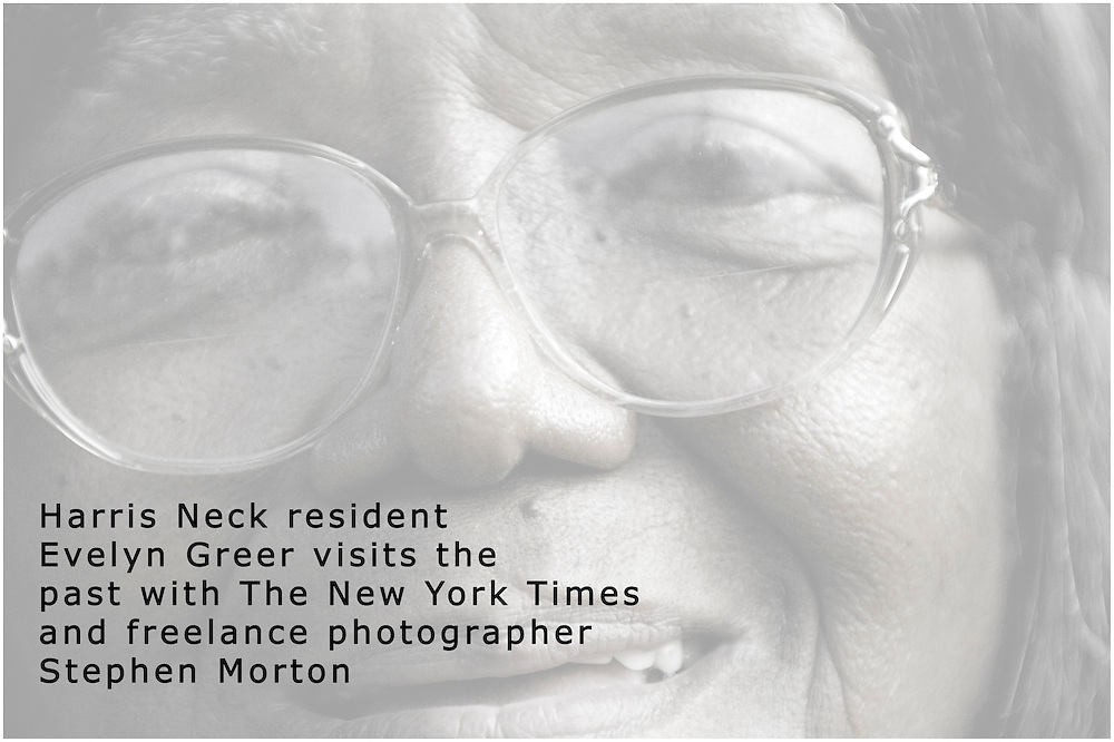 Eighty two-year-old Evelyn Greer's family is one of the 75 African American families that lived on Harris Neck from 1865 to 1942. Greer said Monday, June 21, 2010 that in 1942 the federal government, via eminent domain, confiscates the 2,687 acres of Harris Neck for the stated purpose of national security to build an Army airfield. (Stephen Morton for The New York Times)