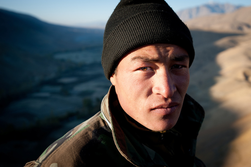 An Afghan National Army soldier from the Hazara minority.