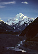 Mt. Cook, Mount Cook, Sunrise, Hooker River, New Zealand