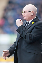 Livingston manager John McGlynn.<br /> Falkirk 1 v 1 Livingston, Scottish Championship game today at The Falkirk Stadium.<br /> &copy; Michael Schofield.