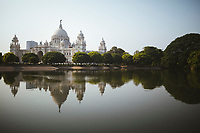 The grounds of the Victoria Memorial in Kolkata, India.