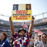 Delegates on the fourth day of the Democratic National Committee (DNC) Convention at Invesco Field in Denver, Colorado (CO), Thursday, Aug. 28, 2008.  ..Photo by Khue Bui