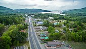 Lake George Route 9 Aerial