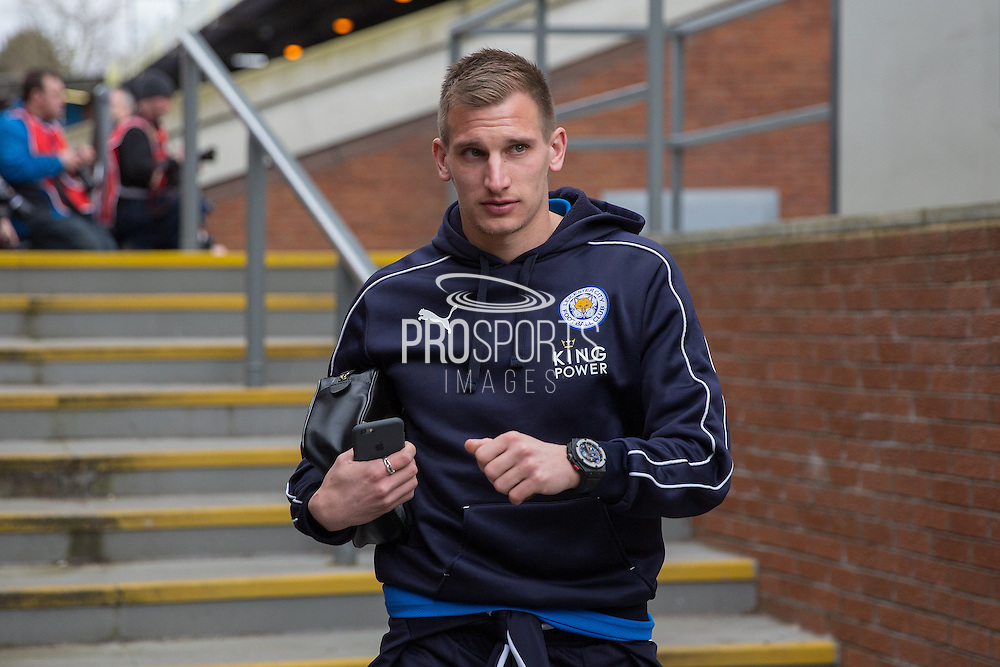 Leicester City midfielder Marc Albrighton (11) arriving before the Barclays Premier League match between Crystal Palace and Leicester City at Selhurst Park, London, England on 19 March 2016. Photo by Phil Duncan.