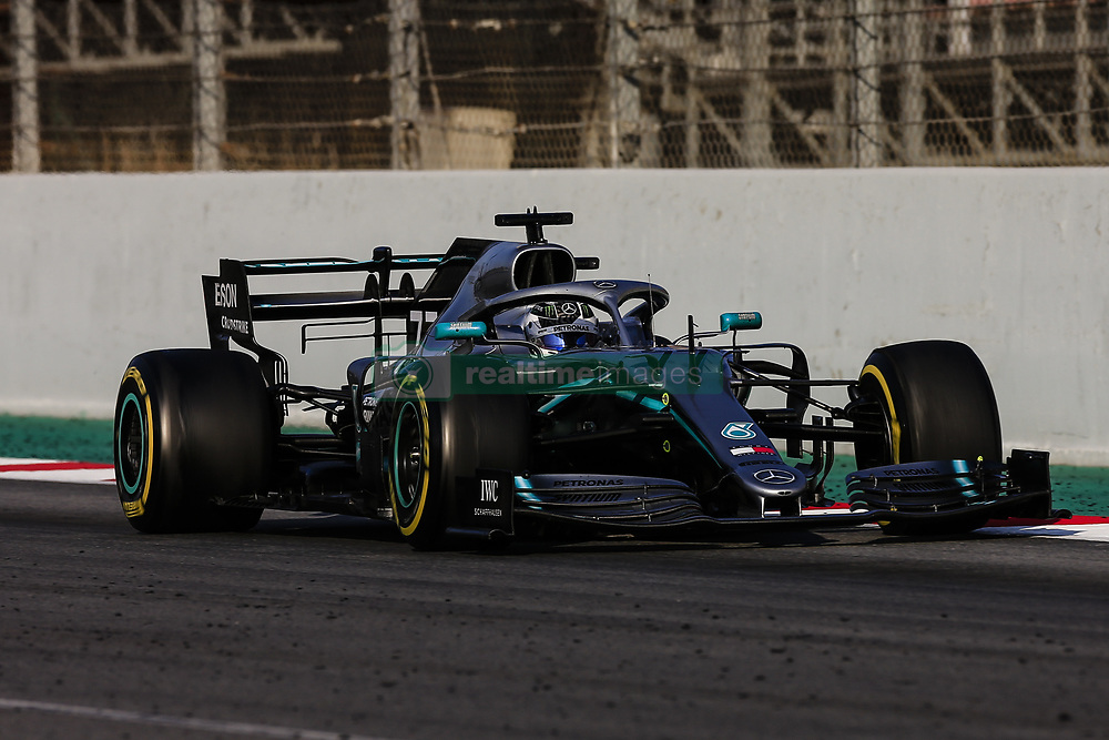 February 28, 2019 - Barcelona, Catalonia, Spain - Valtteri Bottas fo Finland with 77 of Mercedes AMG Petronas Motorsport W10 in action with the DRS activated  during the Formula 1 2019 Pre-Season Tests at Circuit de Barcelona - Catalunya in Montmelo, Spain on February 28. (Credit Image: © Xavier Bonilla/NurPhoto via ZUMA Press)