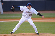 Ole Miss' Matt Tracy (29) pitches vs. Jackson State at Oxford-University Stadium in Oxford, Miss. on Tuesday, March 15, 2011.