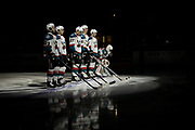 KELOWNA, CANADA - APRIL 07:  Startling Line up at the Kelowna Rockets game on April 07, 2017 at Prospera Place in Kelowna, British Columbia, Canada.  (Photo By Cindy Rogers/Nyasa Photography,  *** Local Caption ***