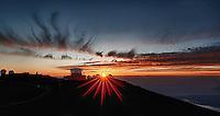 Sunset over Haleakala Satellite Tracking Station from Pu'U'Ula'Ula peak in Haleakala National Park, Maui Hawaii. Image taken with a Nikon D3x and 24 mm f/3.5 PC-E lens (ISO 100, f/16, 1/10 sec). Photoshop CS5 HDR (5 images)