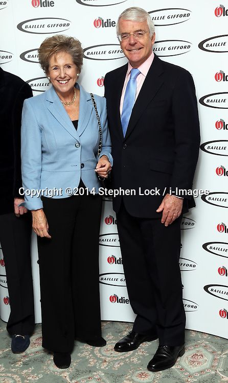 Sir John and Norma Major  at the Oldie of the Year Awards in London, Tuesday, 4th February 2014. Picture by Stephen Lock / i-Images