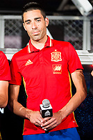 Bruno Soriano during the opening of the corner of the Spanish team in its new Adidas Store Gran Vía in Madrid. June 05 2016. (ALTERPHOTOS/Borja B.Hojas)