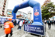 NFL fans arrive at Wembley during the Miami Dolphins vs New Orleans Saints International series match at Wembley Stadium, London, England on 1 October 2017. Photo by Jason Brown.