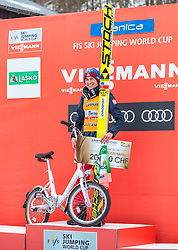 25.03.2018, Planica, Ratece, SLO, FIS Weltcup Ski Sprung, Planica, Siegerehrung, im Bild Sieger Kamil Stoch (POL) // Winner Kamil Stoch of Poland during the Winner Award Ceremony of the FIS Ski Jumping World Cup Final 2018 at Planica in Ratece, Slovenia on 2018/03/25. EXPA Pictures © 2018, PhotoCredit: EXPA/ JFK