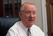 Rep.Buck McKeon in his office at the US. Captiol.  An assignment for THE CHONICLE OF HIGHER EDUCTION  March 2003<br /> Photo by Dennis Brack