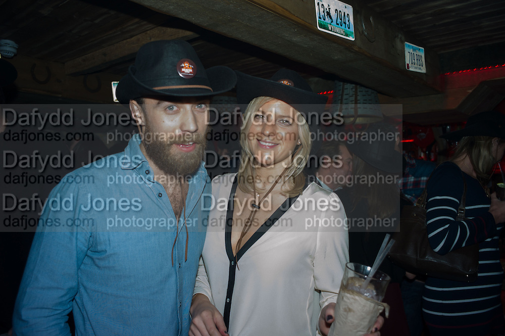 JAMES MIDDLETON; MICHELLE HUNTER; , The launch of Beaver Lodge in Chelsea, a cabin bar and dance saloon, 266 Fulham Rd. London. 4 December 2014