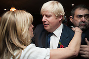 RACHEL JOHNSON; BORIS JOHNSON, Party to celebrate the publication of 'Winter Games' by Rachel Johnson. the Draft House, Tower Bridge. London. 1 November 2012.