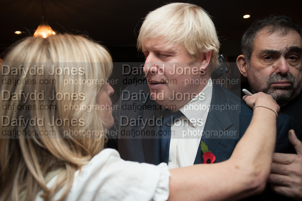 RACHEL JOHNSON; BORIS JOHNSON, Party to celebrate the publication of 'Winter Games' by Rachel Johnson. the Draft House, Tower Bridge. London. 1 November 2012.