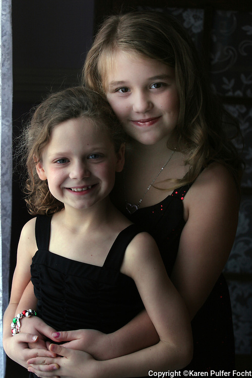 Best friends portrait. Emma Twele and Elli Rose Focht are best friends.