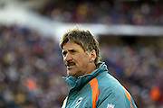 Dolphins head coach Dave Wannstedt surveys the field during a 20 to 3  win by the Miami Dolphins over the Buffalo Bills in an NFL Week 16 game in Buffalo on December 21, 2003. ©Paul Anthony Spinelli