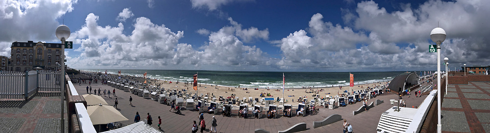 Sylt, Germany. Westerland. Strandpromenade (beach promenade).