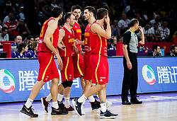 Players of Montenegro during basketball match between National Teams of Latvia and Montenegro at Day 11 in Round of 16 of the FIBA EuroBasket 2017 at Sinan Erdem Dome in Istanbul, Turkey on September 10, 2017. Photo by Vid Ponikvar / Sportida