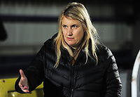 Football - 2018 / 2019 UEFA Women's Champions League - Quarter-Final, First Leg: Chelsea Women vs. Paris Saint-Germain<br /> <br /> Chelsea Manager, Emma Hayes, at Kingsmeadow.<br /> <br /> COLORSPORT/ANDREW COWIE
