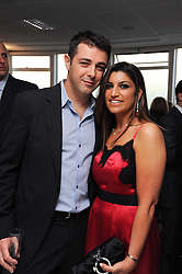 LISA REUBEN and her husband RON VALK at The Reuben Foundation and Virgin Unite Haiti Fundraising dinner held at Altitude 360 in Millbank Tower, London on 26th May 2010.