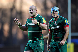Dan Cole of Leicester Tigers - Photo mandatory by-line: Patrick Khachfe/JMP - Mobile: 07966 386802 23/11/2014 - SPORT - RUGBY UNION - Oxford - Kassam Stadium - London Welsh v Leicester Tigers - Aviva Premiership