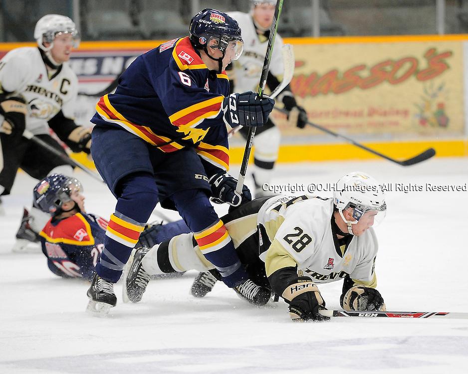 Ontario Junior Hockey League Game Action Between Wellington And