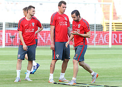 11.06.2015, Stadion Poljud, Split, CRO, UEFA Euro 2016 Qualifikation, Kroatien vs Italien, Gruppe H, Training Kroatien, im Bild Marcelo Brozovic, Mario Mandzukic, Darijo Srna // during trainig of Team Croatia prior to the UEFA EURO 2016 qualifier group H match between Croatia and and Italy at the Stadion Poljud in Split, Croatia on 2015/06/11. EXPA Pictures © 2015, PhotoCredit: EXPA/ Pixsell/ Ivo Cagalj<br /> <br /> *****ATTENTION - for AUT, SLO, SUI, SWE, ITA, FRA only*****