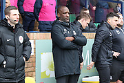 Southend United manager Chris Powell prior to kick offduring the EFL Sky Bet League 1 match between Southend United and AFC Wimbledon at Roots Hall, Southend, England on 16 March 2019.