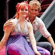 NLD/Hilversum/20080822 - Kim Lian van der Meij terug in de musical Fame, Kim samen met Jim Bakkum