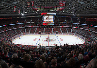 OTTAWA - OCT 04: Puck drop at the 2018/2019 NHL season opener between the Ottawa Senators and the Chicago Blackhawks at the Canadian Tire Centre in Ottawa, ON. Canada on <br /> October 4, 2018.<br /> <br /> PHOTO: Steve Kingsman / Freestyle Photography for Ottawa Senators Hockey Club
