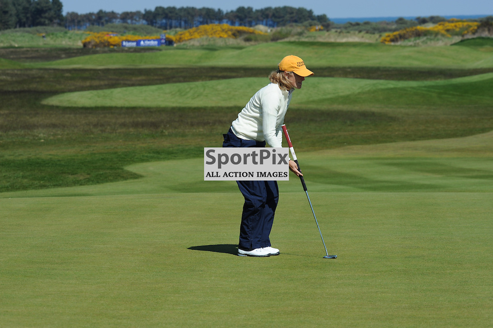 Janice Moodie on the 18ht green at the Aberdeen Asset Management Ladies Scottish Open at Archerfield Links Edinburgh 3-5th May 2012 (Lorraine Hill | STOCKPIX)