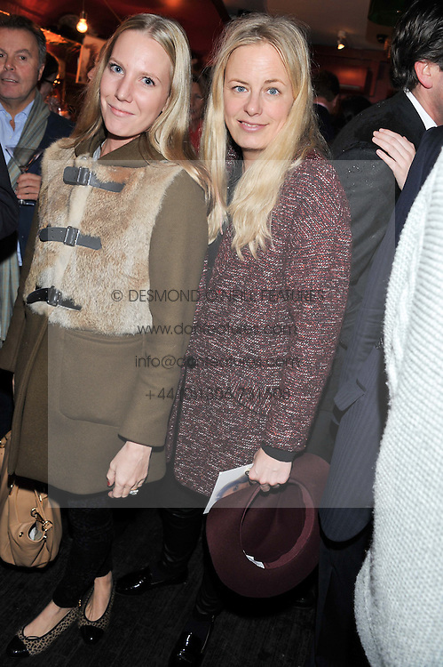 Left to right, ALICE NAYLOR-LEYLAND and ASTRID HARBORD at a party to celebrate the best of W&W Jewellery held at Barts, 87 Sloane Avenue, London on 26th November 2012.
