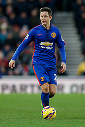 Ander Herrera of Manchester United in action - Photo mandatory by-line: Rogan Thomson/JMP - 07966 386802 - 01/01/2015 - SPORT - FOOTBALL - Stoke-on-Trent, England - Britannia Stadium - Stoke City v Manchester United - New Year's Day Football - Barclays Premier League.