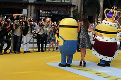 © licensed to London News Pictures. LONDON UK  11/06/15. Sandra Bullock attends the World Premier of The Minions Movie in Liecester Square London. Please see special instructions for usage rates. Photo credit should read ALAN ROXBOROUGH/LNP
