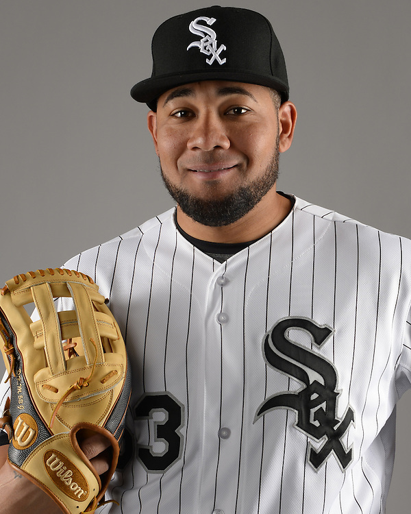 GLENDALE, ARIZONA - FEBRUARY 27:  Melky Cabrera of the Chicago White Sox poses for a portrait during White Sox photo day on February 27, 2015 at Camelback Ranch in Glendale Arizona.  (Photo by Ron Vesely)