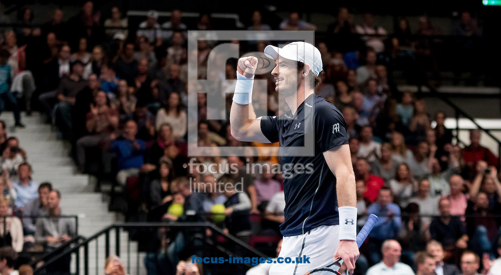 Andy Murray celebrates victory during the final of the Erste Bank Open at Wiener Stadthalle, Vienna, Austria.<br /> Picture by EXPA Pictures/Focus Images Ltd 07814482222<br /> 30/10/2016<br /> *** UK &amp; IRELAND ONLY ***<br /> EXPA-PUC-161030-0408.jpg
