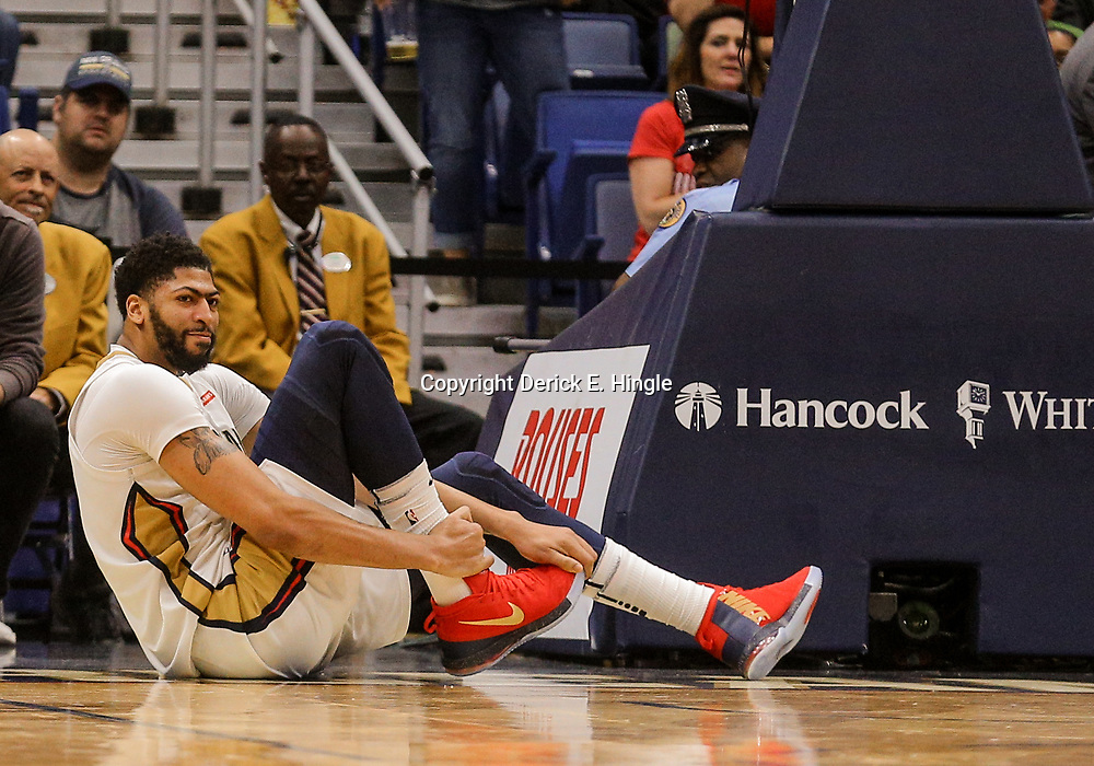 Mar 27, 2018; New Orleans, LA, USA; XXXX during the second half at the Smoothie King Center. The Trail Blazers defeated the Pelicans 107-103. Mandatory Credit: Derick E. Hingle-USA TODAY Sports