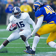 Georgia Southern QB (#15) Jerick McKinnon with the ball during The Division I FCS Championship Semifinals at Delaware. No. 3 Delaware defeats Georgia Southern 27-10 on a cold Saturday afternoon at Delaware stadium in Newark Delaware...Delaware will head to Texas for the Division I FCS National Championship Game Vs Eastern Washington eagles who defeated Villanova 41-31 friday night in Washington..