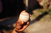 January 21, 2015 - Nueva Gerona, Cuba. A home run ball found behind the outfield wall from La Isla's 15-2 loss to Granma. 01/21/2015 Photograph by Joseph Swide/NYCity Photo Wire