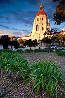 Sunset Light on Pasadena City Hall, Pasadena, California