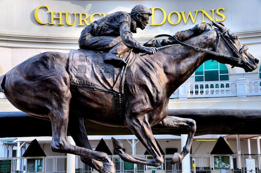 Barbaro sculpture at churchill downs by alexa king in for King fish louisville