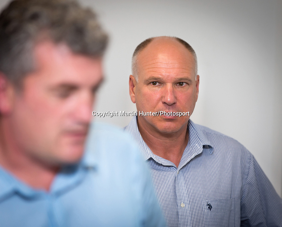 David White, CEO of NZ Cricket looks concerned during a press conference at Christchurch Police Station regarding the attack on Jesse Ryder, Christchurch, New Zealand on Thursday 28 March 2103. Photo: Martin Hunter/Photosport.co.nz